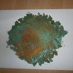 Abstracta - Phase Grün (2014) 40x30 (Acryl / Leinwand)