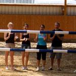 """die besten Anheizer: Nadine, Jenny, Valli und Stefan mit """"Ihr seid besser als Fussball!"""""""