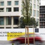 Idee, Wording // Agentur: Hotz Brand Consultants // Kunde: Zölly – Das Zürcher Wohnhochhaus // Wo: Baustellenwände // Warum: Bekanntmachung Immobilienprojekt
