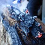 薪の燃え途中