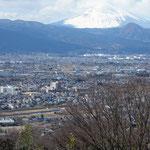 富士山と流鏑馬会場
