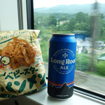 エールビール最高でした!山旅の余韻に浸りながらビールを飲んで車中に人になります!いい山旅でした~