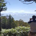 本高森山から南アルプスが一望できます!