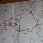 明日歩くルートです。入笠山部分は端折ります