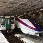 新庄駅で新幹線に乗ってしまいたい誘惑に勝ちます!