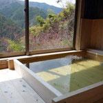 桧風呂最高です!景色も最高!温泉ではないですが、気持ちがいいです!