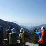 雁坂峠から富士山方向