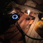 テントに戻って、ローソク&ウィスキータイム ローソクの灯はやはりいいですね~