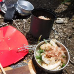 薬師岳で素麺を作りました!