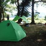 早稲沢キャンプ場はどこでもテントは張れて素晴らしいです!