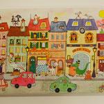 La rue des savanes.(canvas: 120 )