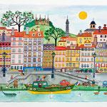 Sous Fourvière à Lyon ( vendu) Sold out en giclée