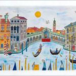 Autour du Rialto à Venise . 450 euros + FP