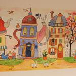 La rue du thé. ( canvas: 120 )