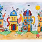 Le chemin des théières.(vendu) Dispo en canvas 145