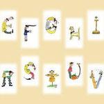 Alphabet des sorcières. Format:90x35 ( 20 euros+FP )