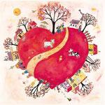 Coeur rouge . Format: 30x30   ( 10 euros + FP)