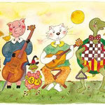 Orchestre animalier . Format: 90x35 ( 20 euros + FP )
