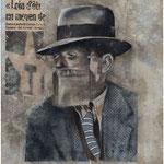 UNDERWORLD  - graphite, acrylique et collage sur papier - 30x30 cm