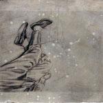 FAIT DIVERS II  - graphite, acrylique sur papier - 33x42 cm