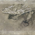 FAIT DIVERS I - graphite, acrylique sur papier - 33x42 cm