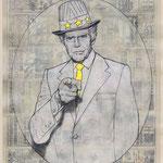 WE WANT YOU - acrylique, graphite, gesso et jet d'encre sur papier - 30x42 cm