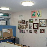 手芸教室  日曜日午後2時から、月2回程度:写真は作品展