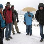 Am Sportplatz in Espa war der Winter viel näher