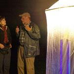 Fachgespräch am Lichtnetz, Schutzgebietsbetreuer Maximilian Burk kennt sich gut aus
