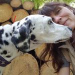 Anny-Chamei vom Furlbach beim Küsschen geben mit Frauchen...16.05.2017