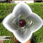 Edelstahl-Windspiel: Blütenform