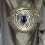 Edelstahl-Windspiel: Saturn