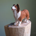 """Lassie Bodyguard""  Figurenhöhe H 28 cm (H. 148 cm, B. 45 cm, T 21 cm)"