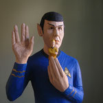 "Mr Spock ""Captain mein Captain"" Figurenhöhe  61 cm (H. 167 cm, B. 45 cm, T. 20 cm)"