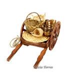 Carro con cestas de mimbre (Ref. 3647.2)