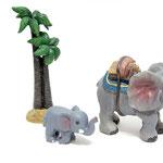 Elefante y palmera no incluidos.