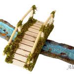 Muestra de combinación con río curvo y puente (no incluidos)