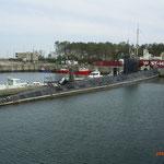 U-Boot im Hafen von Zeebrügge