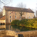 The old watermill on the edge of the village