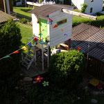 Stelzenhaus im Sommer