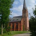 St. Gallus-Kirche Neugalmsbüll von NW