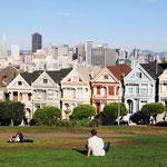 Painted Ladies, San Francisco - in jedem Reiseführer, jetzt auch von mir ;-)