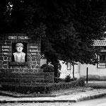 Wettin, Sachsen-Anhalt : Thälmann und Pfosten auf einem Bild