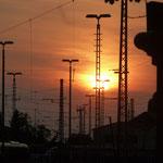 21.08.21 GoGarten Austraße Nbg.    Sunset über GoHo     Foto Ernst Schultz