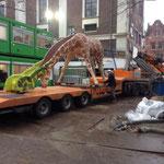 Giraf vervoeren voor Artis