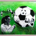 Frauen an den Ball,  100x80