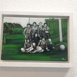 Frauenfußball um 1957, 30x24