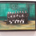 Zwei mit Hut, Werder Bremen 1920, 30x40 verkauft