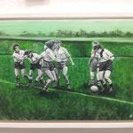 Frauenfußball um 1957, 60x40 - erhältlich über die Bremer Aids-Hilfe