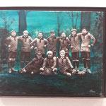 Fußballmanschaft, Lemwerder um 1925, 50x70